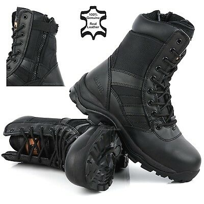 £28.95 • Buy Mens Combat NON-SAFETY Army Hiking Tactical Walking Military Leather Boots Size