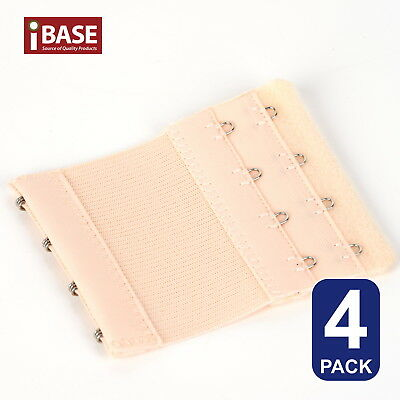 AU6.49 • Buy 4x BRA Extender Elastic 4 Hook Extension Strap Plus Size Clip On Maternity Nude