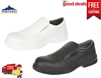 Portwest Steelite Slip On Safety Shoes Food Catering Chef Hospital Medical FW81 • 28.24£