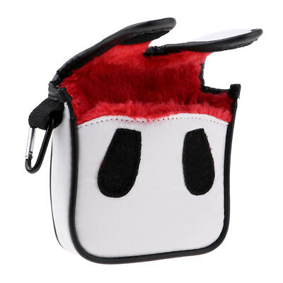 AU14.46 • Buy Universal PU Golf Head Cover Headcover Club Protector For Mallet Putter Red