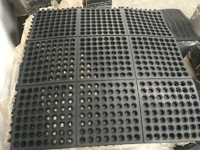 Rubber Mat Kitchen Commercial Garage Green House Ant-fatigue Inter Locking Mats • 14£