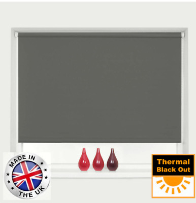 £13.95 • Buy BLACKOUT ROLLER BLINDS THERMAL EASY FIT TRIMMABLE UP TO 240cm WIDTH MANY COLOURS