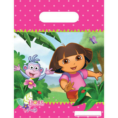 Boys Girls Birthday Party Dora The Explorer Themed Loot Bag Lunch Bags Gift • 0.99£
