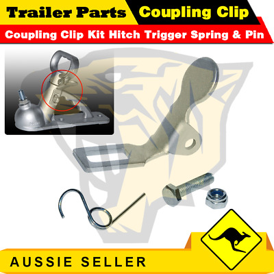 AU10.99 • Buy Superior Trailer Coupling Clip Kit Hitch Trigger Spring & Pin