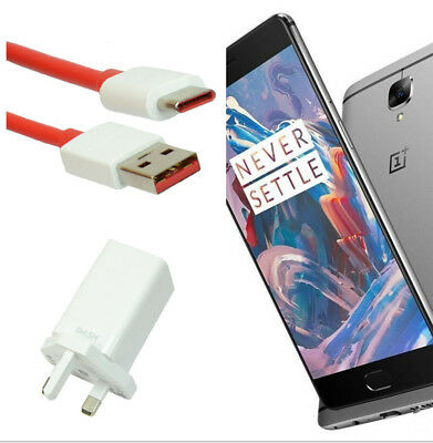 AU27.19 • Buy Dash High Speed 4A UK/EU Adapter Plug Charger & Cable For OnePlus 3 5 5T
