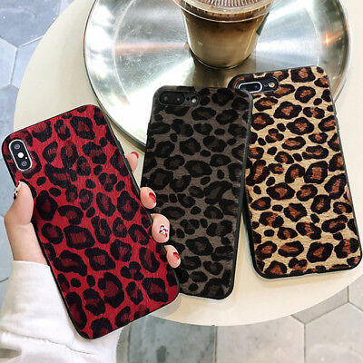 For Apple IPhone Stylish Faux Fur Leopard Silicone Protective Back Case Cover • 4.85£