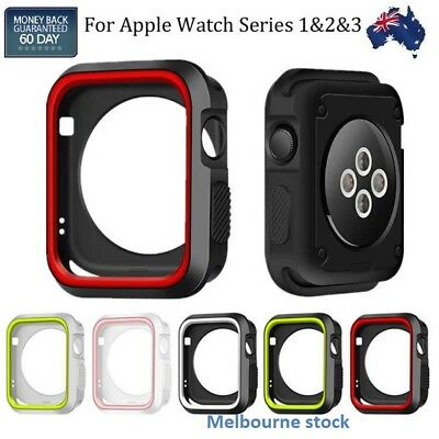 AU7.78 • Buy For Apple Watch Series 1 2 3 4 5 Body Protector Silicone TPU Case Cover Bumper