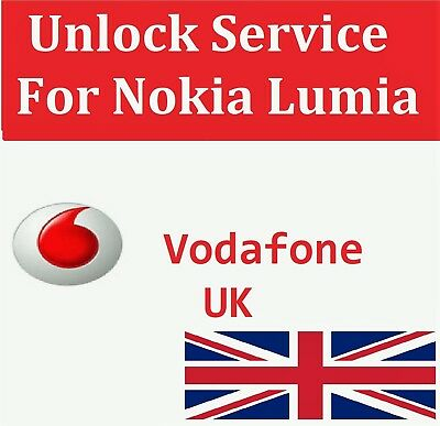 Unlock Code SERVICE For Nokia Lumia 610 625 630 635 640 645 650 For VODAFONE UK • 2.50£