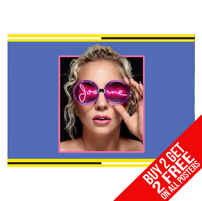 Lady Gaga Joanne Poster A4 A3 Size Print - Buy 2 Get Any 2 Free • 6.99£