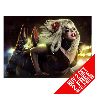 Lady Gaga Poster A4 A3 Size Dd1 Print - Buy 2 Get Any 2 Free • 6.99£