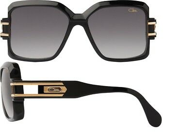 2244e241f1b Cazal Men s 623 Glossy Black Gold Square Sunglasses • 200.00