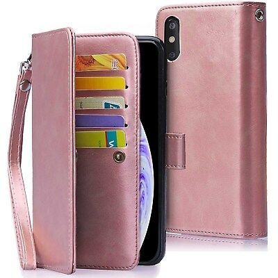 AU23.74 • Buy For IPhone XS Max XR 8 Magnetic Leather Removable Wallet Card Case F Women/Girls