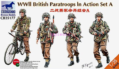£18.50 • Buy Bronco 1/35 35177 WWII British Paratroops In Action Set A