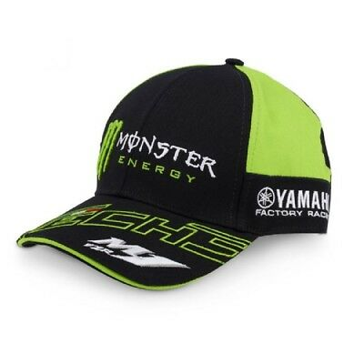 Cap Berretto Curvo Monster Energy Verde Back MotoGP Superbike Yamaha Tech3  IT • 29.99€ 60cb8ca42349