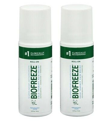 Biofreeze ROLL-ON Cooling Pain Reliever 3 Oz / 89ml X 2 • 25.99£