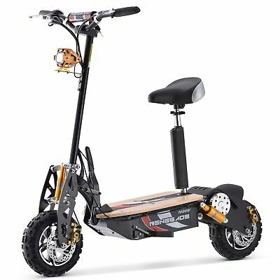 £639.95 • Buy Renegade 1000W Powerboard 48V Rechargeable Electric Scooter - Black
