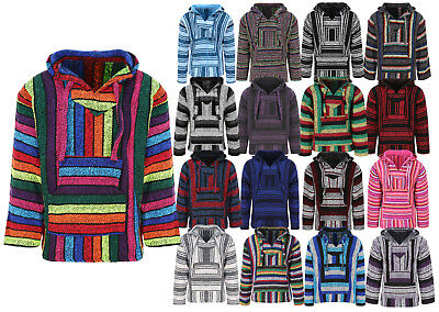 Unisex Mexican Baja Hoodies, Jergas, Mexican Threads Hoodie, Festival Clothing • 22.85£
