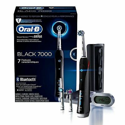 AU167.33 • Buy NEW Sealed ORAL-B~BRAUN Precision BLACK 7000 Rechargeable Toothbrush 3D Action