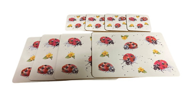 £12.99 • Buy 4x Butterfly & Flowers Dinner Placemats & Coasters Table Setting Cork Backed