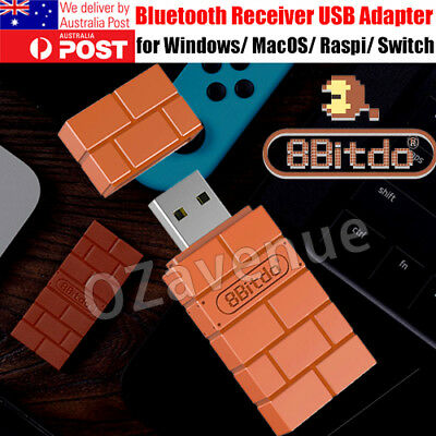 AU25.16 • Buy Portable 8Bitdo Wireless Bluetooth Receiver USB Adapter For Nintendo Switch PS4