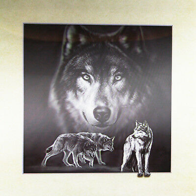AU20.91 • Buy 3D Lenticular Poster - Wolf Montage -16x16 Print