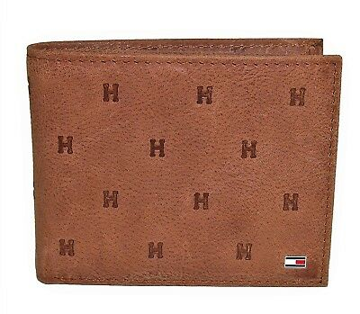 4d6a5aa1c Tommy Hilfiger Men's Leather Vaughn Embossed Bifold Wallet • 21.99$