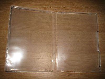 10 Clear Blank Empty Single DVD Cases Without DVD Slot • 12£