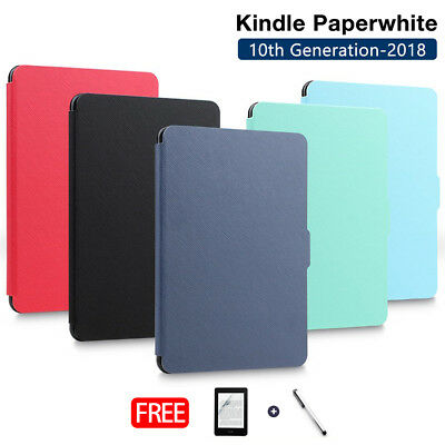 AU10.99 • Buy  Amazon Kindle Paperwhite 10th 2018 Ultra Slim Smart Leather Flip Case Cover