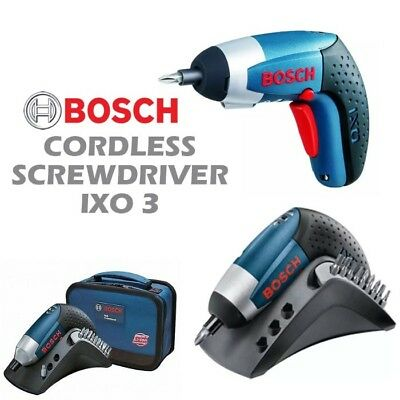 View Details BOSCH IXO III 3.6V Professional Lithium-ion Mini Cordless Electric Screwdriver • 70.28£