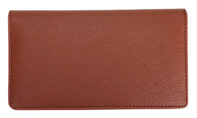 $8.99 • Buy Brown Textured Leather Checkbook Cover