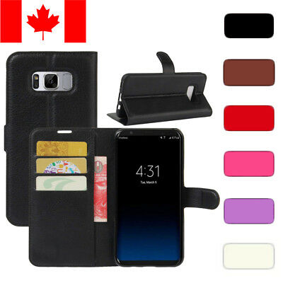$ CDN8.99 • Buy Wallet Stand Case Cover Card Holder For Samsung Galaxy S8