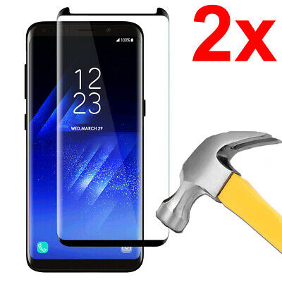 $ CDN9.99 • Buy 2x Curved Tempered Glass Screen Protector For Samsung Galaxy S8+ (S8 Plus)