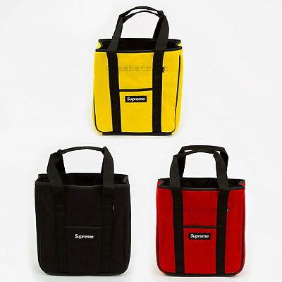 $ CDN211.81 • Buy Supreme FW18 Polartec Tote Box Camp Cap Tee Logo Bag Waist Backpack Shoulder