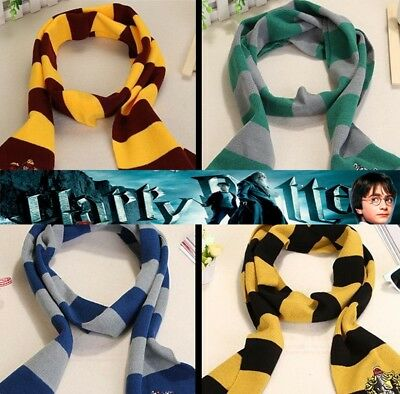 AU12.95 • Buy Harry Potter Costome Scarf Tie Necklace Gryffindor Slytherin Ravenclaw Huffle