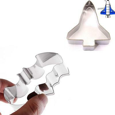 Set Of 2 Stainless Steel Batman & Spaceship Shuttle Cookie Cake Paste Cutters • 4.99£
