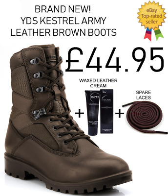Brand New British Army Issue YDS Kestrel & Falcon Desert Brown Boots  • 39.95£