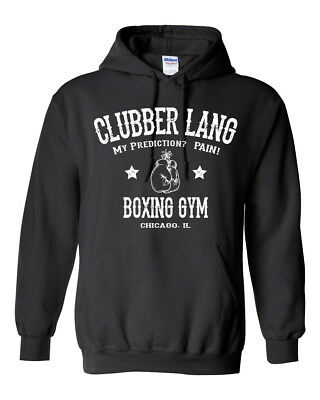 $19.95 • Buy CLUBBER LANG Gym HOODIE - Rocky Balboa Boxing 80's Movie