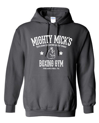 $19.95 • Buy Mighty Mick's Gym HOODIE - Rocky Balboa Boxing 80's Movie