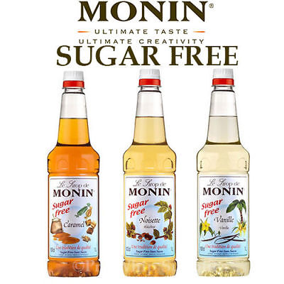 Monin Coffee Syrups SUGAR FREE 1 Litre Bottles - AS USED BY COSTA COFFEE Flavour • 15.49£