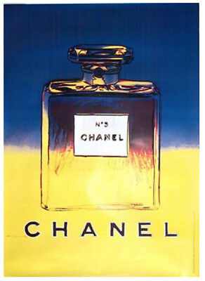 $1010 • Buy Original Vintage Chanel No5 Perfume Poster Blue - By Artist Andy Warhol 1995