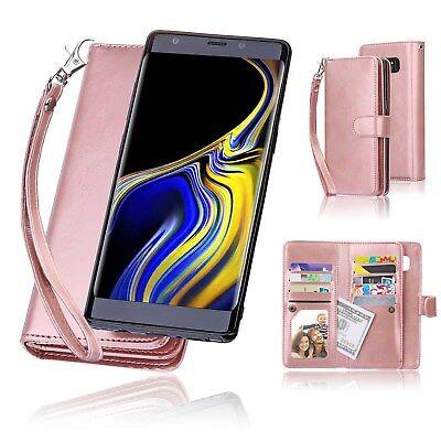 $ CDN19.94 • Buy For Samsung Note 9 8 S9 Plus Magnetic Flip Leather Wallet Stand Case Cover Women