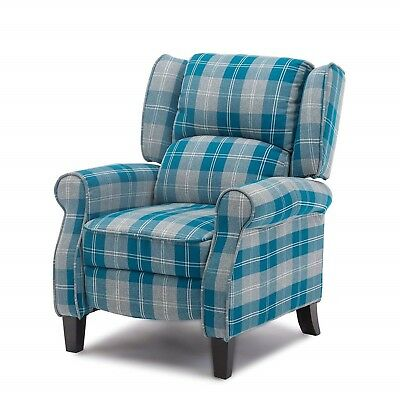 Home Cinema Armchair Fabric Recliner Lounge Seat Wing Queen Anne Cottage Chair • 298.66£