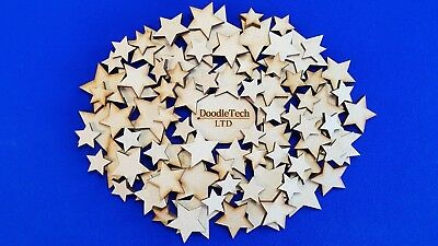 Wooden Stars Laser Cut MDF Blank Embellishments Craft Decorations Shapes • 1.99£
