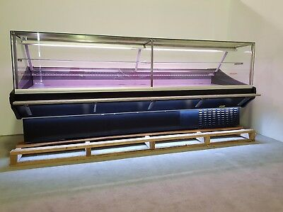 Maxi Sq 3m Brand New Serve Over Counter Meat Display Chiller Black Led Lights  • 3,150£