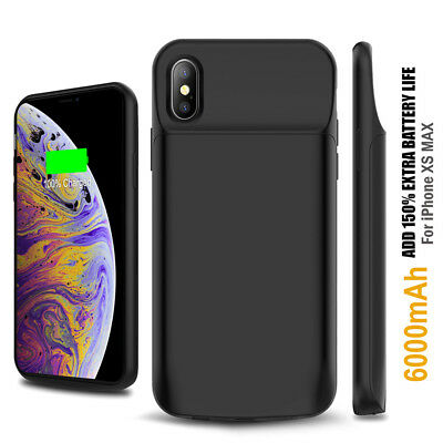 AU64.59 • Buy Apple IPhone XS Max XR External Battery WIRELESS CHARGING Case IPhone 6s 7 8Plus