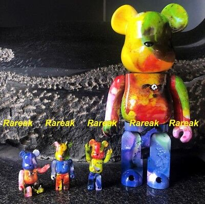 $475.99 • Buy Medicom Bearbrick 2018 Pushead Different Colors 400% + 100% Be@rbrick Set 4pcs