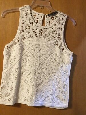 $ CDN31.70 • Buy White House Black Market Sleeveless Crochet Tank Top Size M