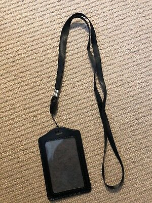 £3.75 • Buy Ex Police Black ID Badge Holder With Lanyard. New. 995.