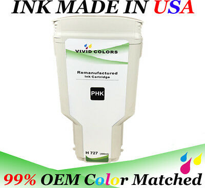 $88.99 • Buy Remanufactured Photo Black F9J79A HP727 Ink Cartridge For T2500 Printer 300ML