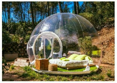 AU1125 • Buy Portable Clear Transparent Inflatable Bubble Air Dome Home House Tent Camping